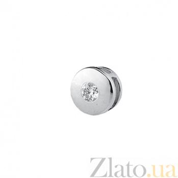 Подвеска из белого золота с бриллиантом Соланж KBL--П095/бел/брил