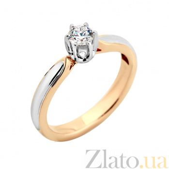 Золотое кольцо с бриллиантом Эльба VLA--14450