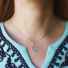 Серебряная ладанка Блаженная Матрона с чернением