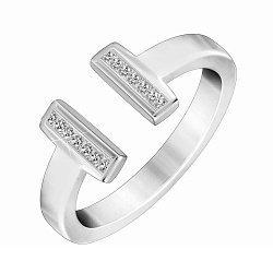 Серебряное кольцо с кристаллами циркония в стиле Тиффани 000082228