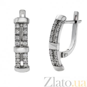 Серебряные серьги с фианитами Бейли AUR--72860б