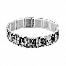 Серебряный браслет Святые мужи в комбинированном цвете