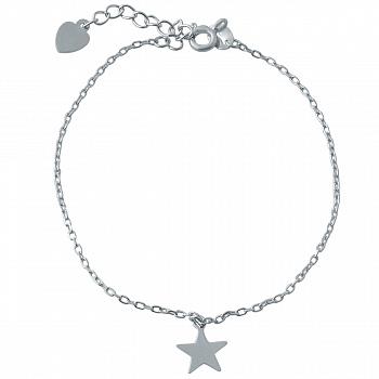 Серебряный браслет Далекая звезда в стиле минимализм