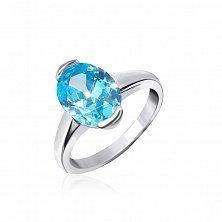 Серебряное кольцо с фианитом Лидия