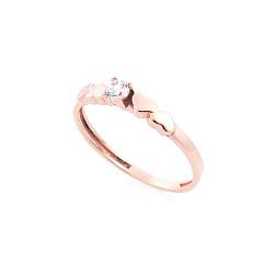 Золотое кольцо Мелодия сердца с цирконием