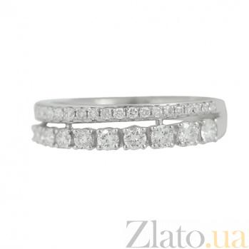 Золотое кольцо с бриллиантами Млечный путь 000026825