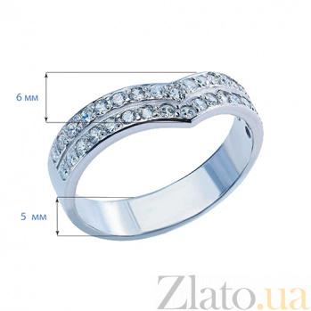 Серебряное кольцо с фианитами Сердечный образ AQA--10065