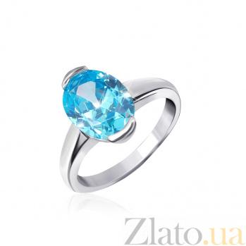 Серебряное кольцо с фианитом Лидия 000025473