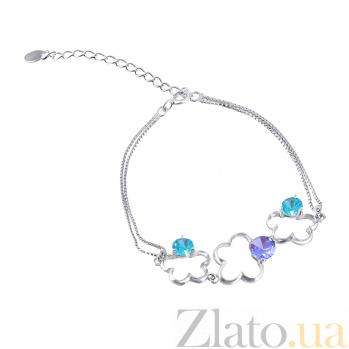 Серебряный браслет с разноцветным цирконием Вероника 000025876