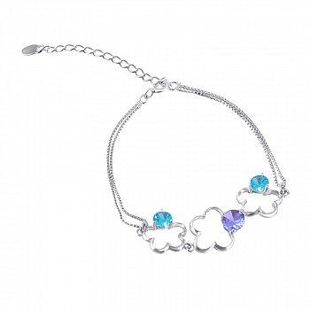 Серебряный браслет с разноцветным цирконием 000025876
