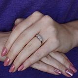 Золотое кольцо Цветочная драгоценность в комбинированном цвете с бриллиантами