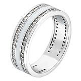 Золотое кольцо Клеспия с белой или черной эмалью и бриллиантами