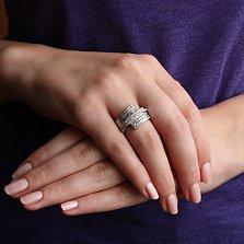 Золотое кольцо Драгоценная волна с бриллиантами