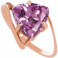 Золотое кольцо с аметистом Шарлиз