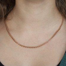 Серебряная позолоченная цепочка Бисмарк с алмазной гранью, 3мм