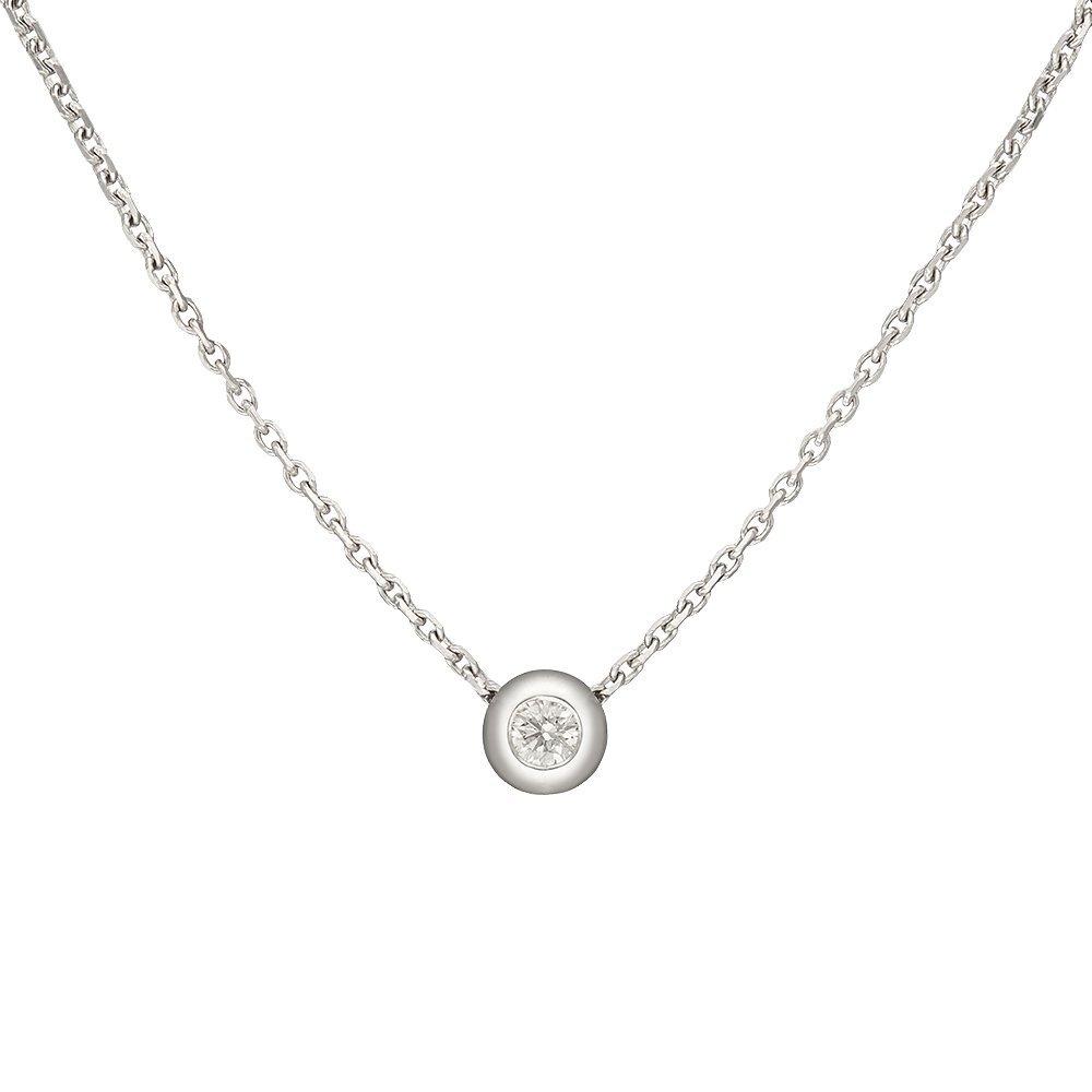 Золотое колье Мечтания в белом цвете с завальцованным бриллиантом