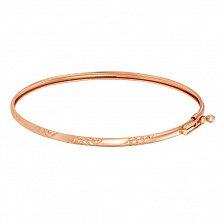 Жесткий золотой браслет Мирена с узорной алмазной гранью