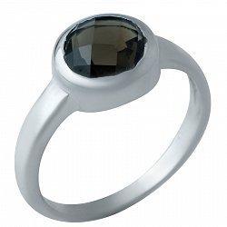 Серебряное кольцо Зухра с завальцованным раухтопазом