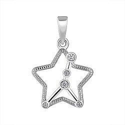 Серебряная подвеска Знак Зодиака Рак с фианитами 000148219