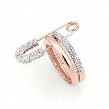 Золотое кольцо Булавка с фианитами