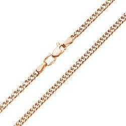 Цепь из красного золота с алмазной гранью и родированием 000117328