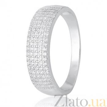 Серебряное кольцо с фианитами Роксана 000028271