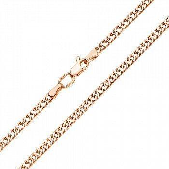 Ланцюг із червоного золота з алмазною гранню та родіюванням 000117328