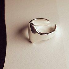 Серебряное большое кольцо на фалангу Арвин
