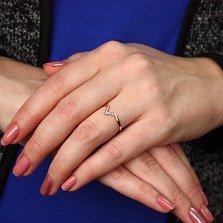 Золотое кольцо Перст указующий с бриллиантами
