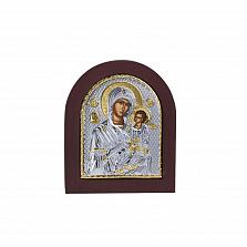 Серебряная икона Божья Матерь с позолотой