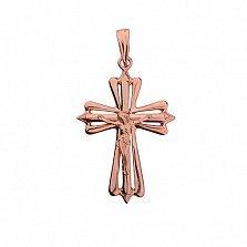 Золотой крест Ангел-хранитель