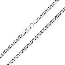 Серебряная цепь с чернением, 4мм 000044325