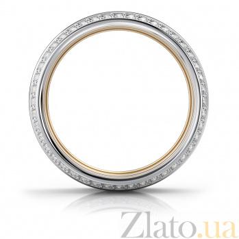 Золотое кольцо Кэйт с бриллиантами и белой эмалью VLA--15920