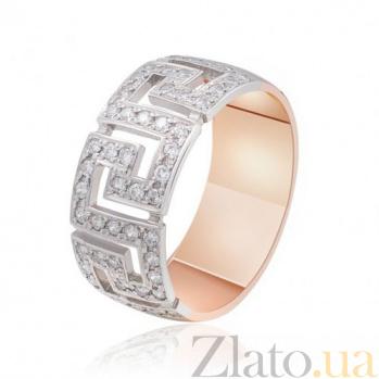 Золотое кольцо с орнаментом Биата с фианитами EDM--КД0320