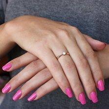 Помолвочное кольцо в красном золоте Решение с фианитом