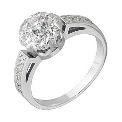 Кольцо из белого золота Джозефа с бриллиантами