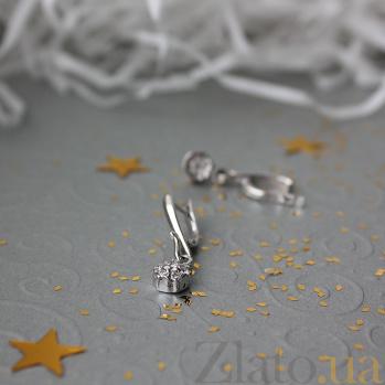 Золотые серьги с бриллиантами Тамила PTL--3с250/21
