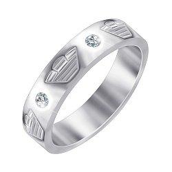 Серебряное кольцо с фианитами в стиле Армани 000052230