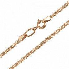 Золотая цепь Лавиния в плетении нонна, 1,5мм