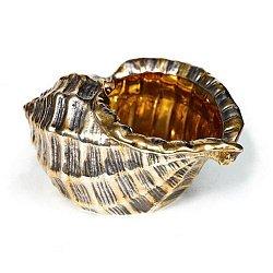 Серебряная икорница с позолотой 000004250