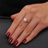 Золотое кольцо с кристаллами Swarovski Георгин