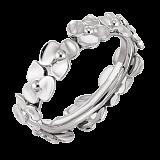 Молодежное кольцо в белом золоте Hortensia
