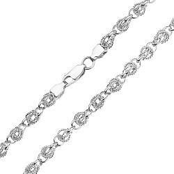 Серебряная цепь Аллегрос в фантазийном плетении