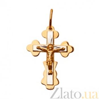 Золотой крестик Светлый символ SUF--523500