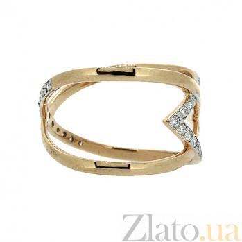 Золотое кольцо в красном цвете с бриллиантами Либа 000027336