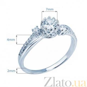 Кольцо на помолвку из серебра AQA--XJT-0102-R1