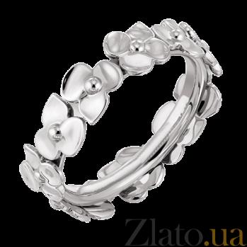 Молодежное кольцо в белом золоте Hortensia R-Ch/Hor-W-little