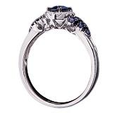 Золотое кольцо с сапфирами и бриллиантами Анджелль