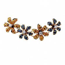 Золотое колье с бриллиантами Лилия