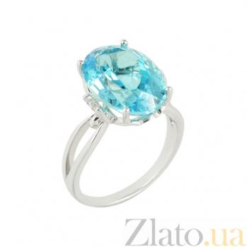 Золотое кольцо с бриллиантами и топазом Элинора 1К034-0799